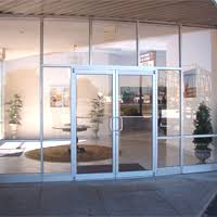 commercial enterance storefront glass doors