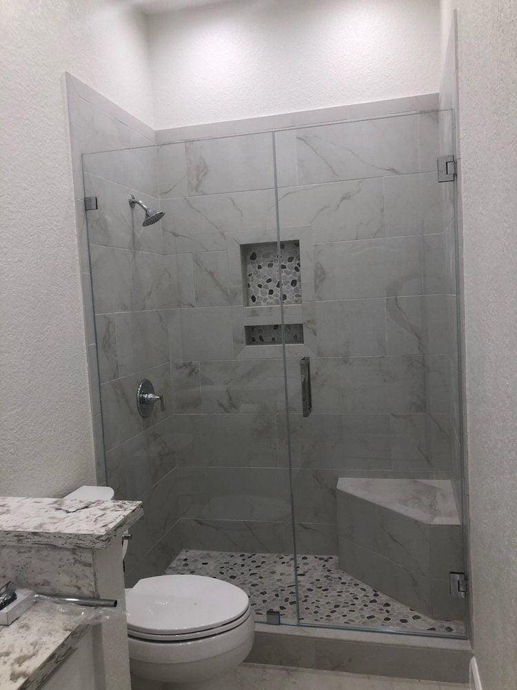shower doors frameless